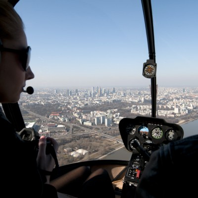 Viewing helicopter flights