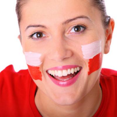 Polish patriotic girl