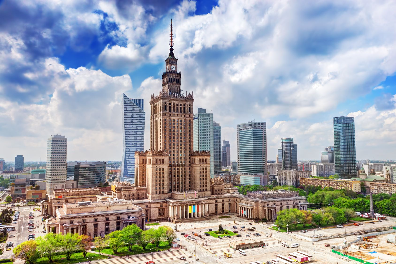 The center of Warsaw