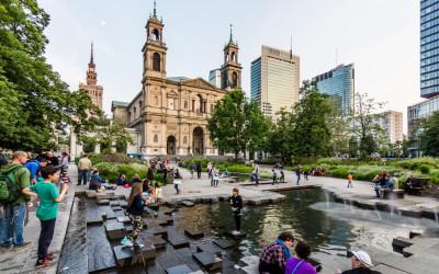 Grzybowski plein in Warschau
