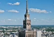 Het Paleis van Cultuur en Wetenschap in Warschau